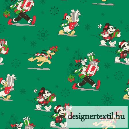 Mickey és barátai karácsonyi pamutvászon (Disney Mickey & Friends Christmas Day)