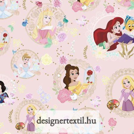 Disney Hercegnők pamutvászon (Disney - Party Princess)
