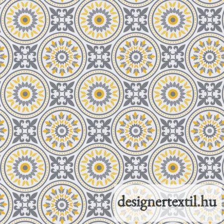 Szürke mozaikok pamutvászon (White Gray Matters More Mosaic)