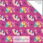 Magenta My Little Pony Friends Flannel