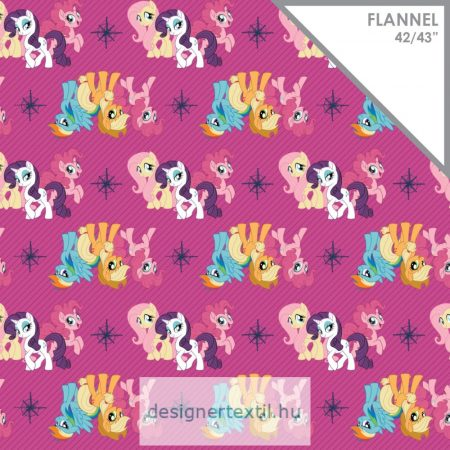 Magenta My Little Pony Friends Flannel