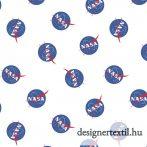 NASA logó pamutvászon (Nasa Main White - Riley Blake)