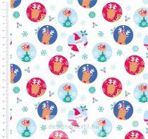 Charactel Circles Christmas - designer quilt cotton