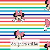 Csíkos Minnie - pamutvászon (Disney Minnie Rainbow Stripe)