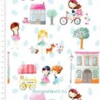 Girls Day Out - designer cotton fabric