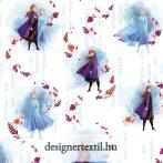 Jégvarázs 2 fehér - pamutvászon (Disney Frozen Anna & Elsa Digital Cotton)