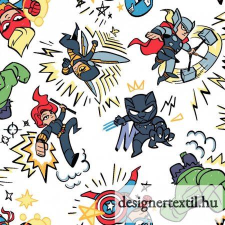 Marvel rajzos pamutvászon (Marvel Kapow)