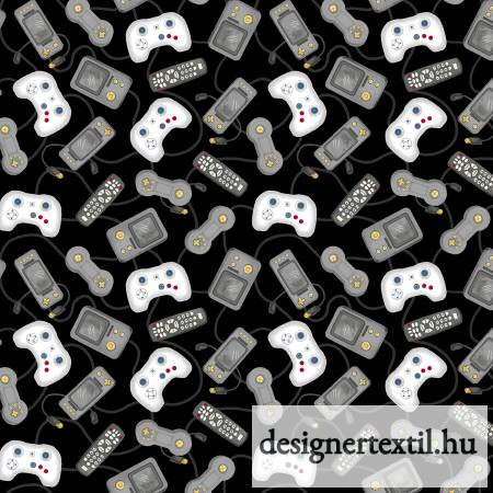 Kontrollerek pamutvászon (Black Game Console Controllers)