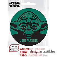 Star Wars Yoda felvasalható matrica (Ad-Fab)