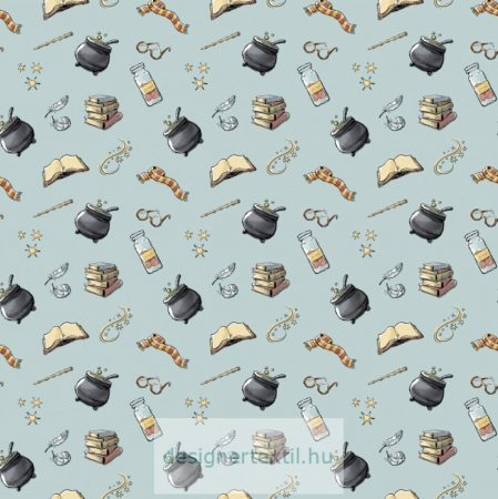 Harry Potter Blue Potion quilt cotton by Camelot Fabric
