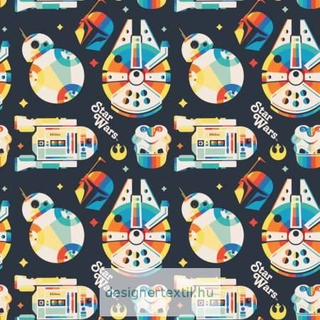 Star Wars Rainbow Retro patchwork cotton by Camelot Fabric
