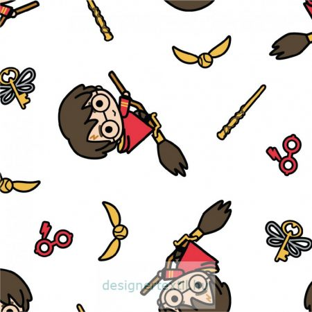 Harry Potter Kawai Broomstick quilt cotton by Camelot Fabric