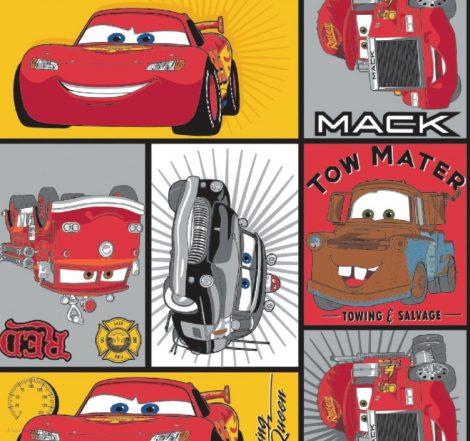 Disney Cars - Main Characters in Blocks Camelot Fabric