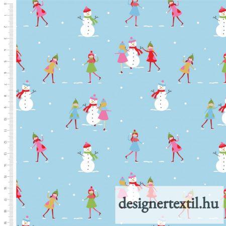 Karácsonyi hóemberes - pamutvászon (Christmas Town Snowman)