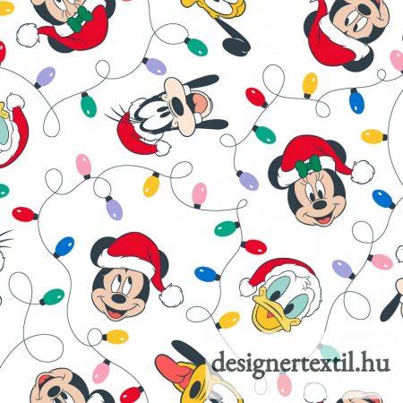 Mickey és Minnie karácsonyi fények pamutvászon (Disney Mickey & Friends Christmas Lights)