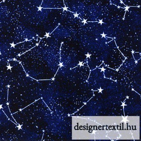 Éjszakai csillagképek - sötétben világító- pamutvászon (Midnight Glows in the Dark Constellations)
