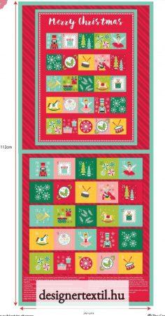 Diótörő adventi kalendárium panel (NUTCRACKER ADVENT CHRISTMAS PANEL)