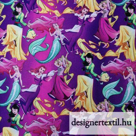 Disney Hercegnők pamutvászon (Disney Princess Allover)