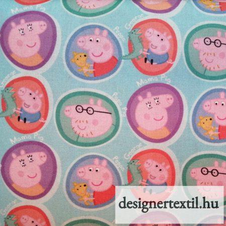 Peppa malac pamutvászon (Peppa Pig Family Cotton)