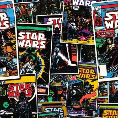 Star Wars Comic Book patchwork cotton by Camelot Fabric
