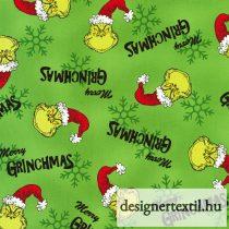 Grinch pamutvászon (Green Dr. Seuss How the Grinch Stole Christmas)
