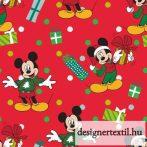 Mickey karácsonyi pamutvászon (Christmas Disney Mickey for Me)