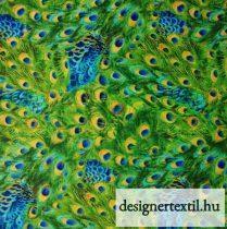 Pávatollak pamutvászon (Multi Packed Feathers)
