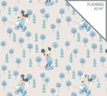 Mickey egér flanel méteráru - (Disney - Mickey in the Meadow in Blue)